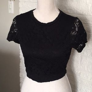 Lily white lace crop top